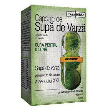 Varza - Hypericum, 60 capsule (Adjuvante in cura de slabire) - pensiunea-hanna.ro